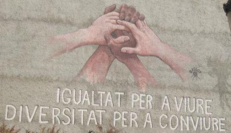 Mural contra la intolerància a Burjassot