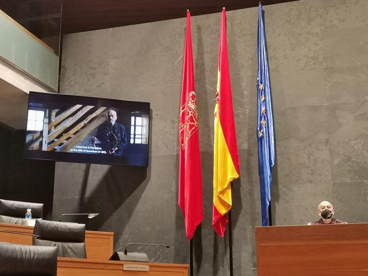 Eneko Etxeberria Álvarez Nafarroako Parlamentuan