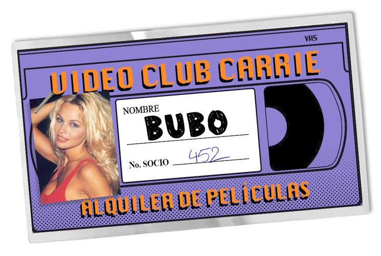 Como ya leeréis en la novela, Bubo está tan enamorado de Pamela Anderson que pone su foto en todos lados (carnet incluído).
