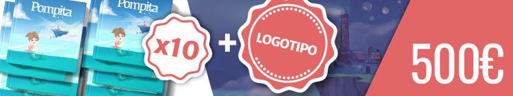Recompensa para Patrocinadores (Limitada a 2 Uds.): 10 Cuentos y tu Logo en el cuento en una página compartida con otro colaborador