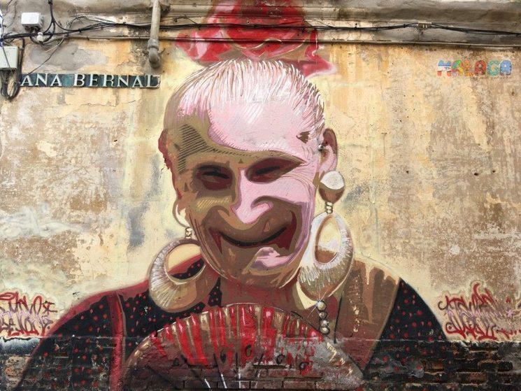 Mural de Carmen en Lagunillas