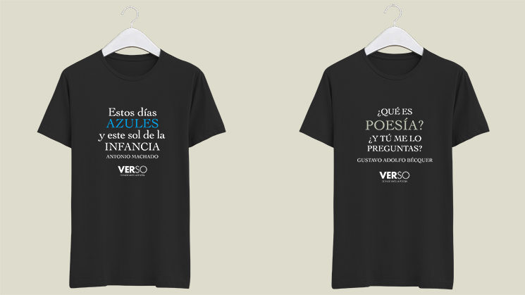 Nueva recompensa: Camisetas con versos de Bécquer y Machado
