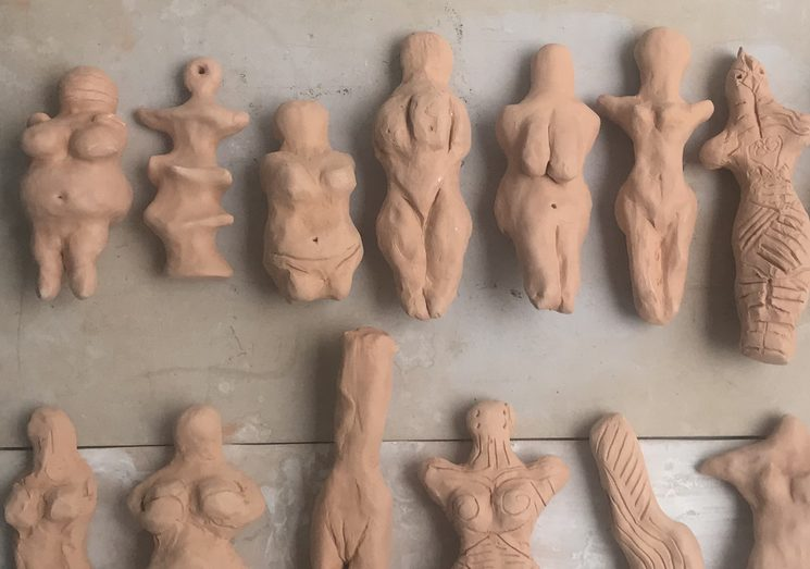 "Venus figurines for ""Hilo y Trama"" installation"