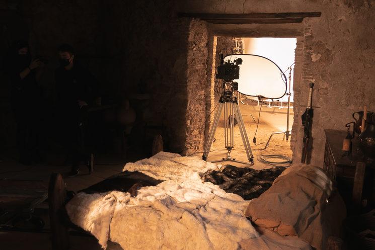 Foto del set de rodaje del teaser.