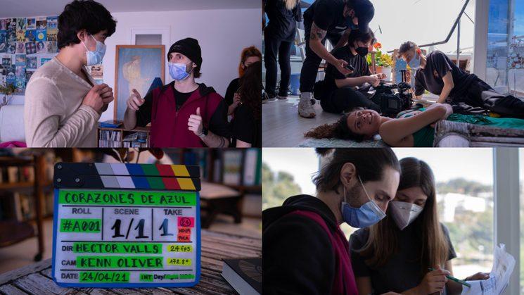 Imágenes del Making of de Corazones de Azul