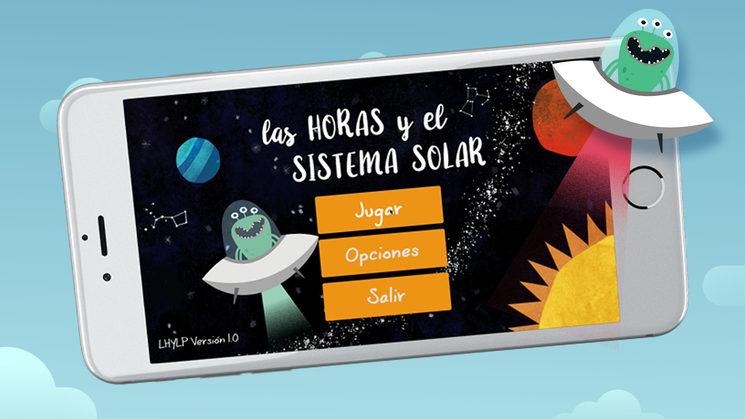 """App con el cuento interactivo """"Las horas y el sistema solar"""""""
