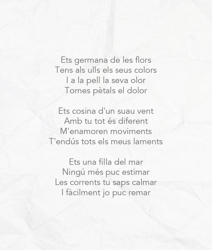 """Exemple de poema (Fragment de """"Germana de les Flors"""")"""