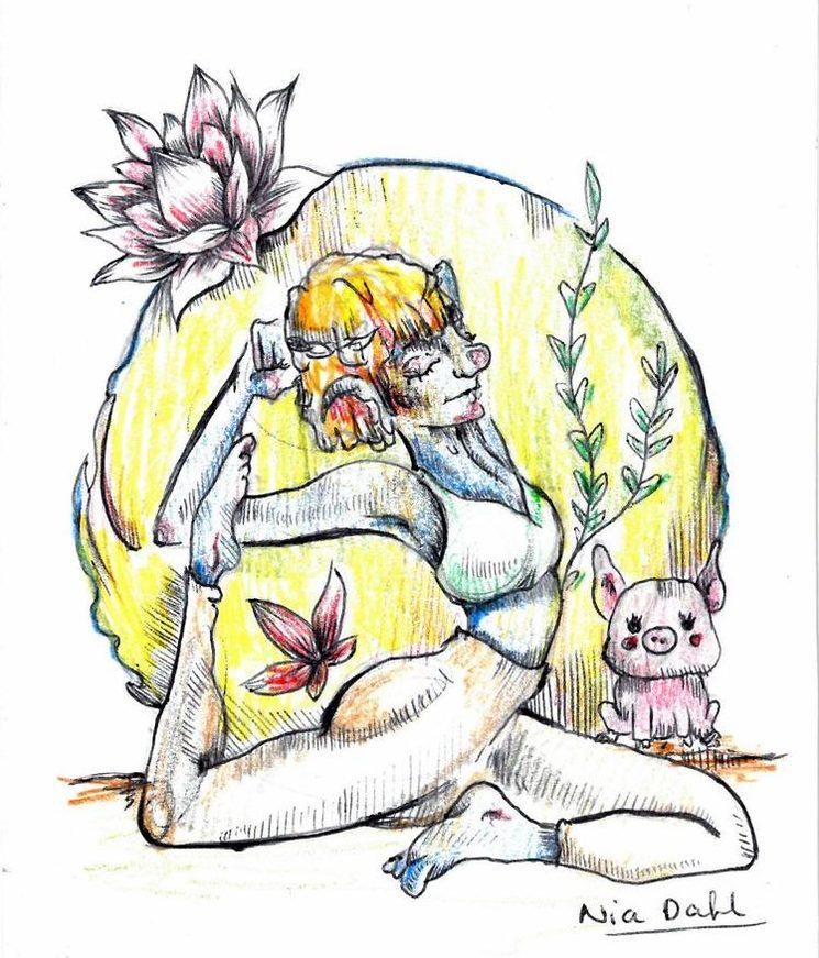 Ilustración formato pegatina