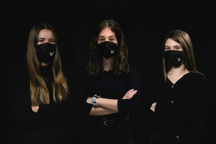 Equipo de arte: Paz, Paula y Elena (de izqda. a dcha.)