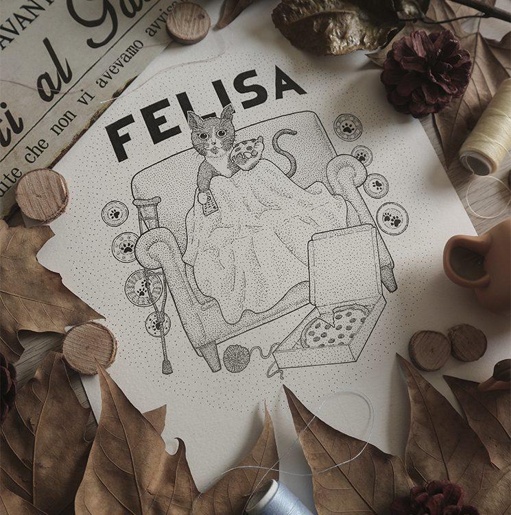 Ilustración de Felisa