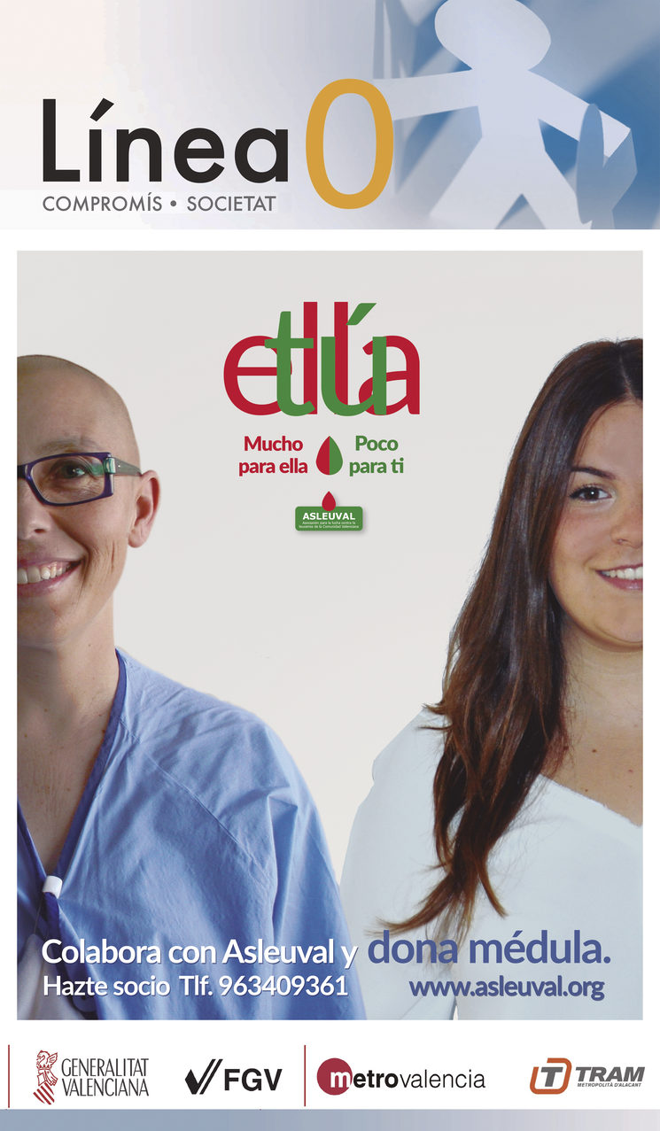 ASLEUVAL campaign to promote bone marrow donation with the colaboration of María
