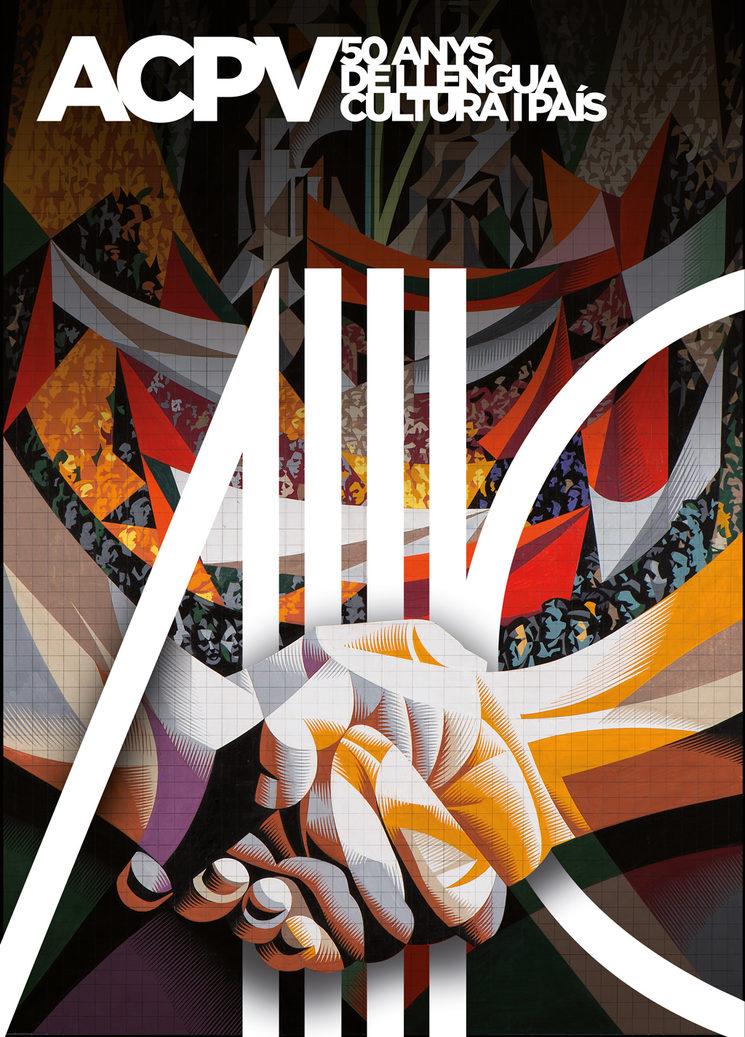 Cartell de Toni Payà inspirat en Alfaro i Renau.