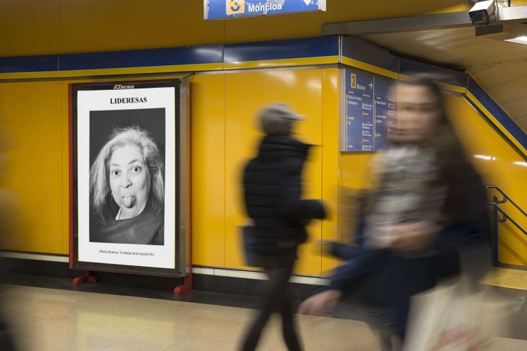 En el metro de Madrid