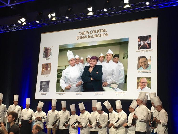 En el congreso internacional de chefs del mundo.