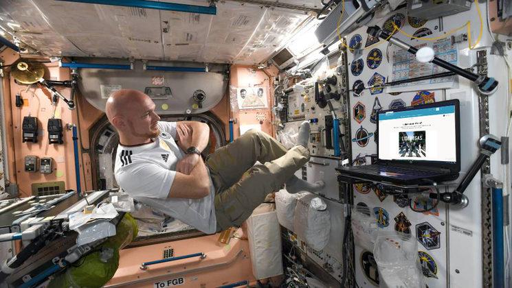 En la Estación Espacial Internacional