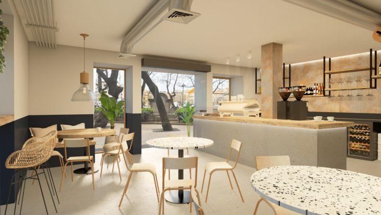 The vision! Sneak peak inside the new café!