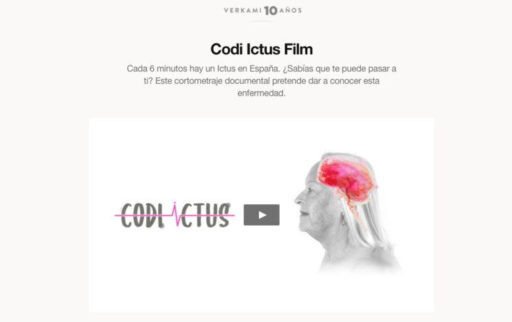 Campaña de Verkami para Codi Ictus