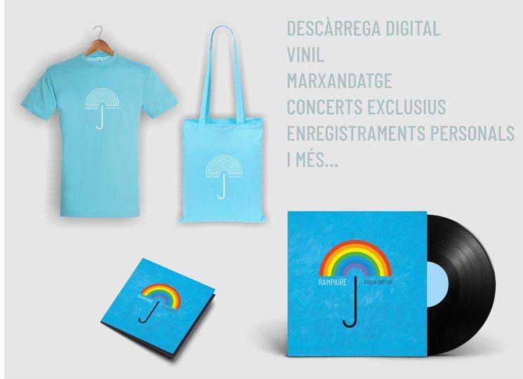 Descàrrega digital, vinil, samarreta, bossa i molt més.