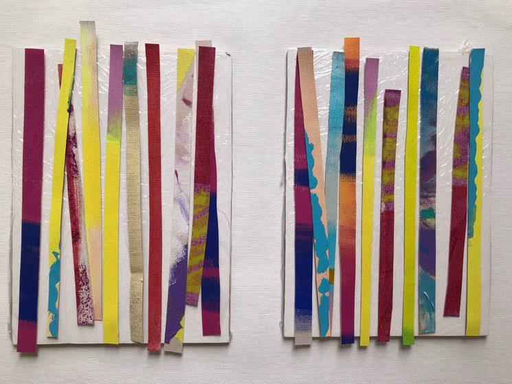 Lienzos con strips para crear