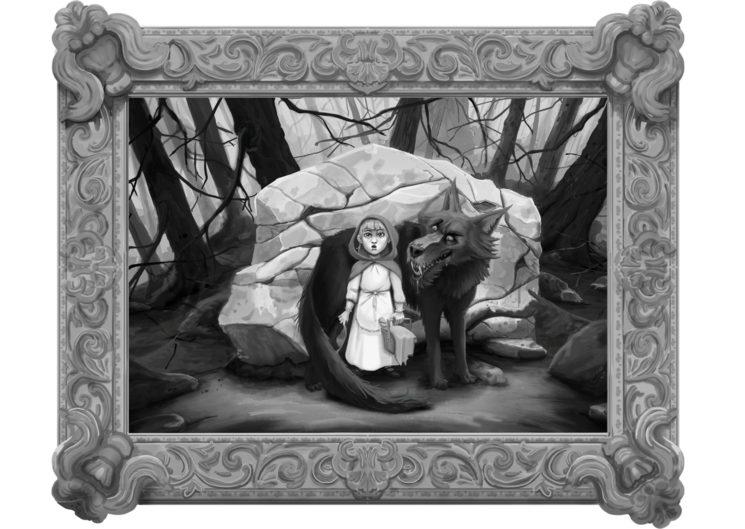 Caperucita Roja en el bosque con el lobo (Cuento de Caperucita Roja de Charles Perrault)