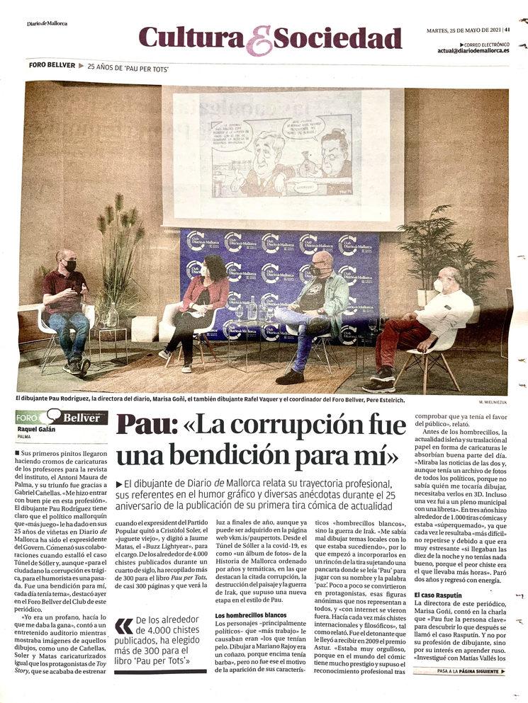 Presentación en el Club Diario de Mallorca.
