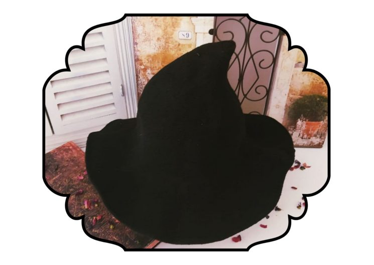 Sombrero de adulto incrédulo en negro