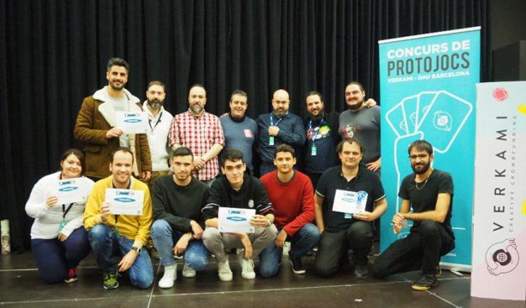 Finalistas y ganador del V concuros Verkami-DAU