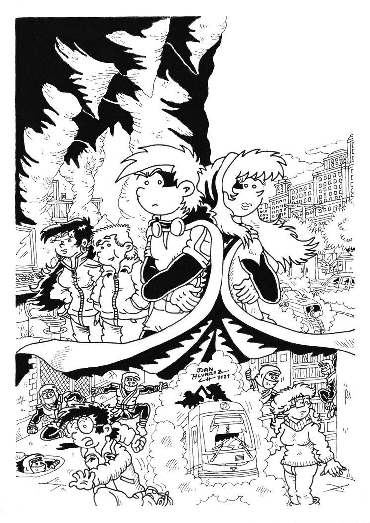 Original de la Portada del cómic a tinta