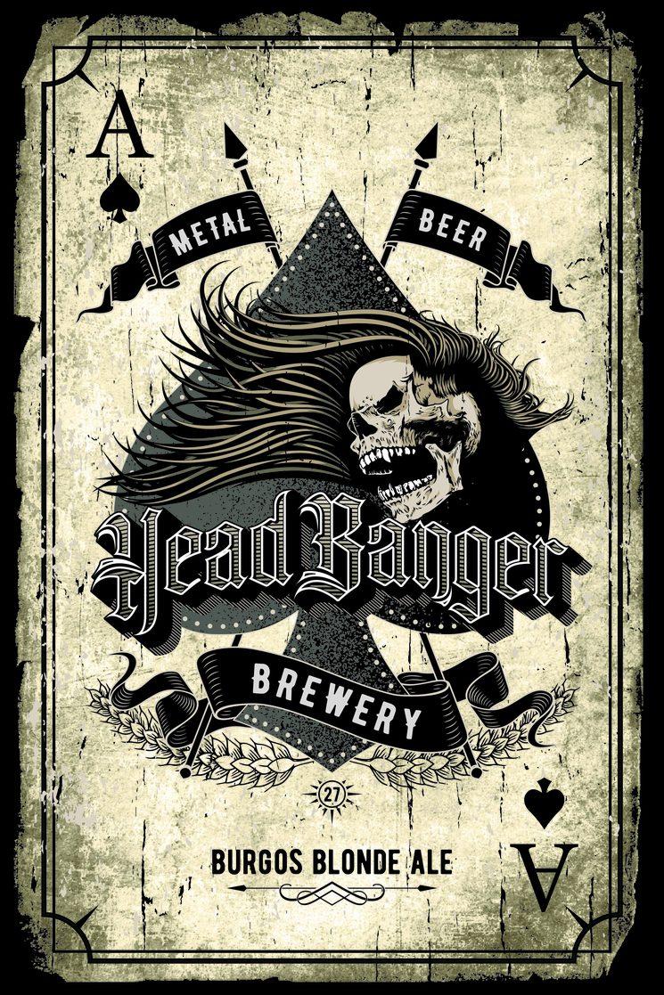 Placa Headbanger 27 Metal Beer