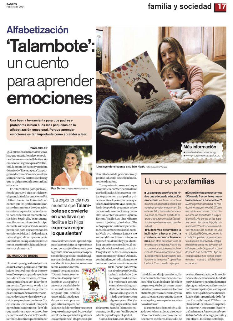 Revista Padres. Febrero de 2021