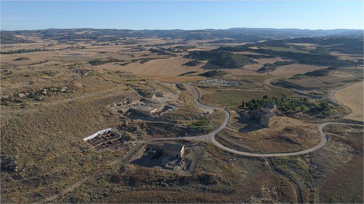 Vista aérea del yacimiento