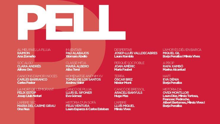 cançons i col·laboradors del disc Pell