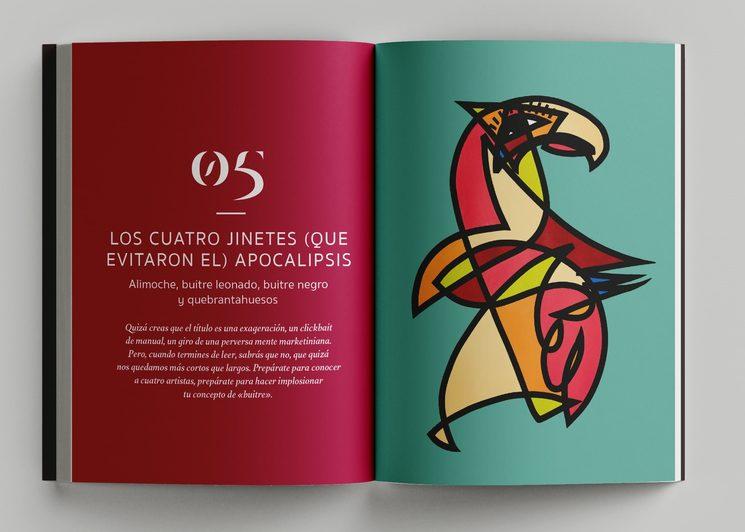"""Portadilla del capítulo dedicado a los buitres ibéricos. Ilustración de Miguel Ángel Belinchón """"Belin"""""""