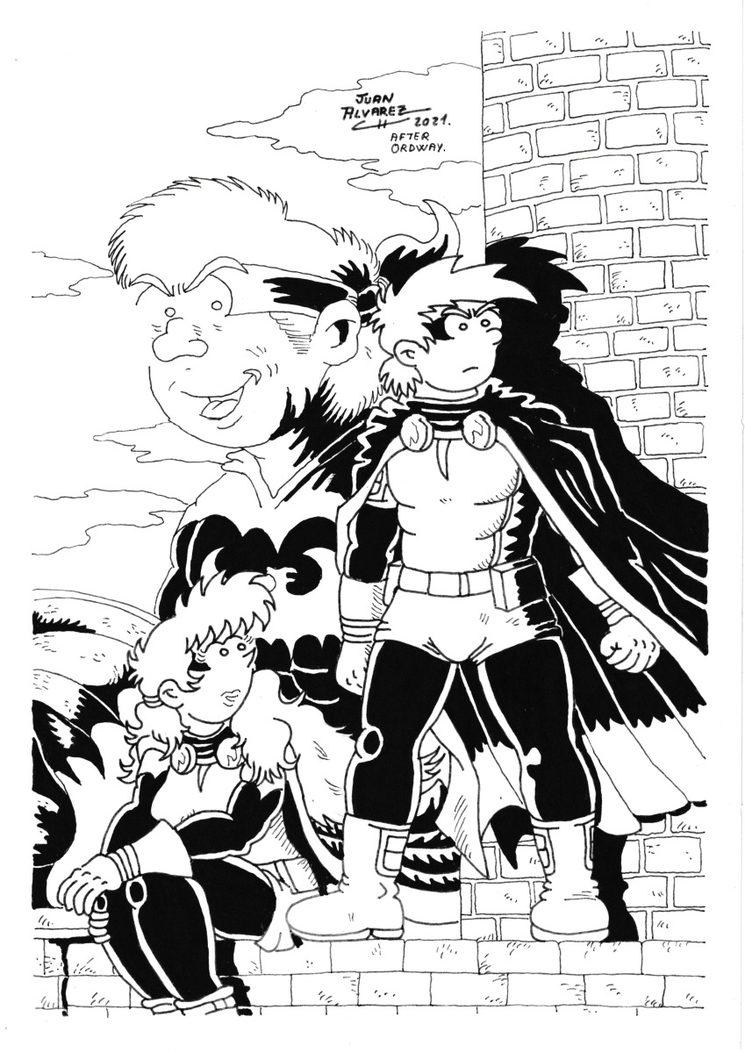 Dibujo adaptación portada cómic Batman (1989)