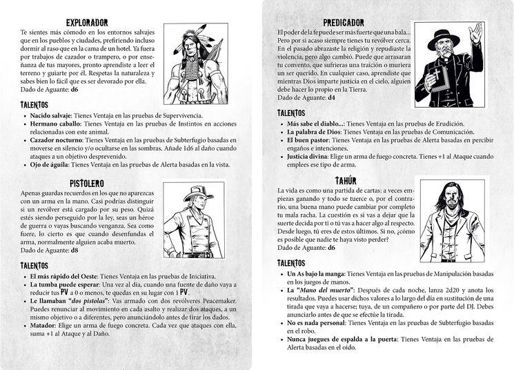 Las clases de Personaje en Circus Western
