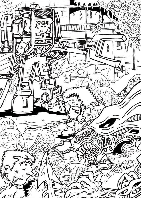 Original a tinta fanart de Aliens