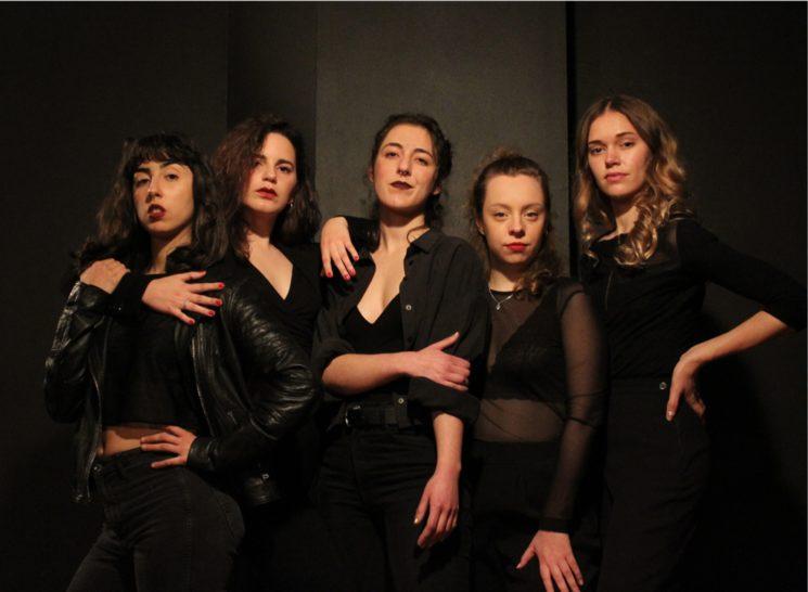 The cast: Claudia Anyor, Gemma Maus, Alba Grau, Candela Díaz Sanz, Ariadna Clapés.