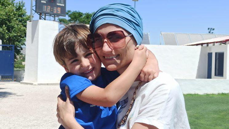Olga y su hijo Alejandro