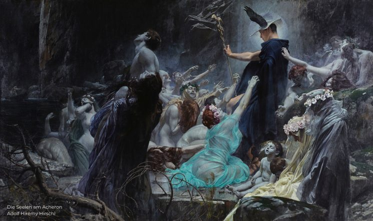 Die Seelen am Acheron - Adolf Hirémy Hirschl