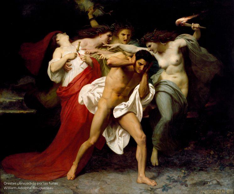 Orestes persuadido por las furias - William-Adolphe Bouguereau