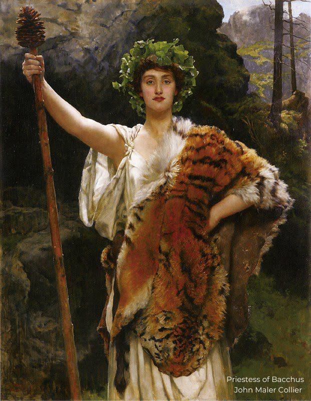 Priestess of Bacchus - John Maler Collier