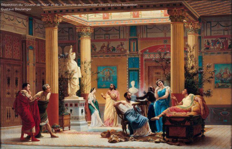 """Répétition du """"Joueur de flûte"""" et de la """"Femme de Diomède"""" chez le prince Napoléon - Gustave Boulanger"""