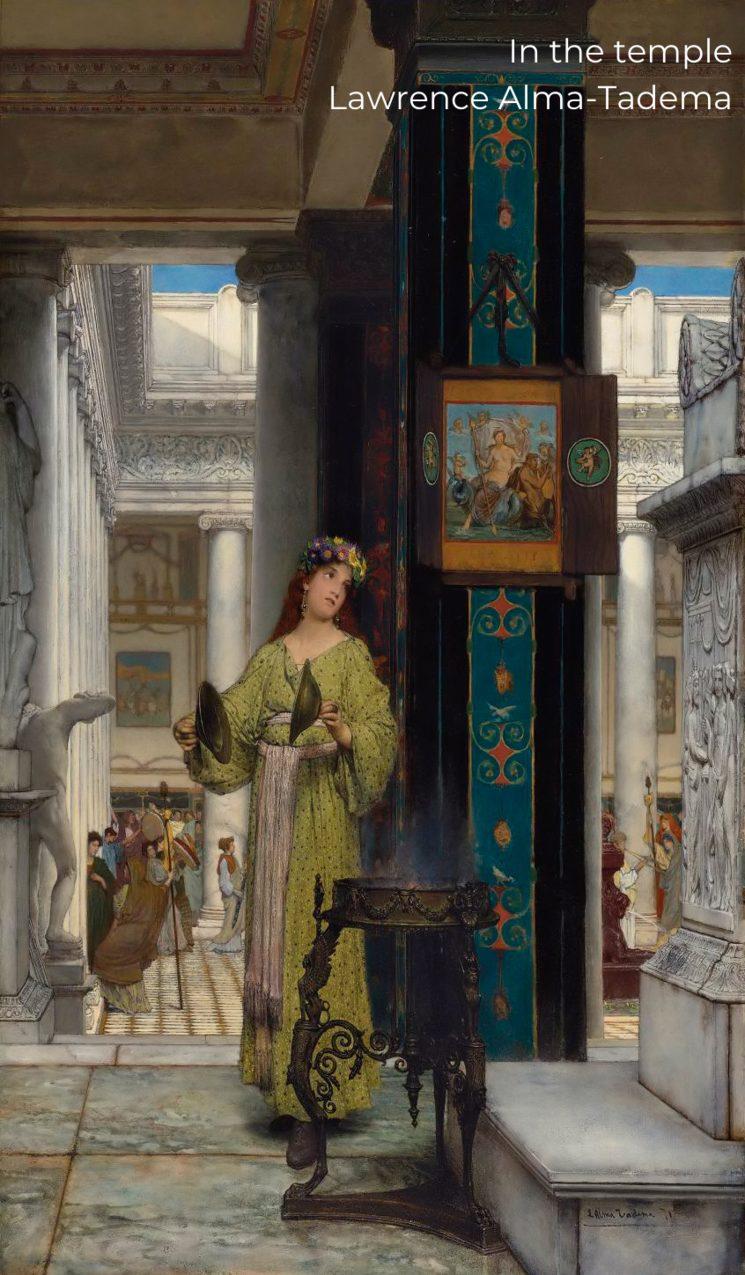 In the temple - Lawrence Alma-Tadema