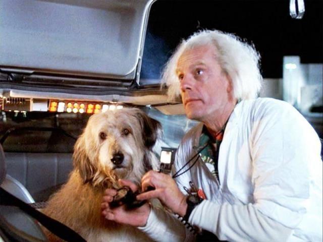 """Einstein y Doc, en """"Regreso al futuro""""."""