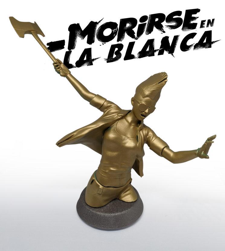 Figura de Leire Riscal realizada por Daniel Gojénola, autor de las portadas de Morirse Otra Vez