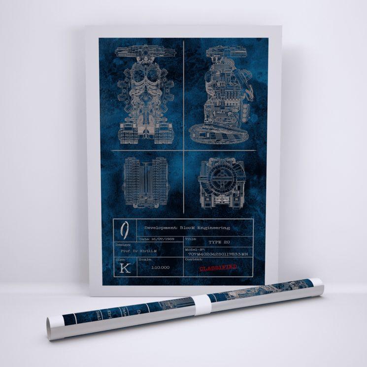 """Edición especial poster """"Type 20"""" Blueprint"""