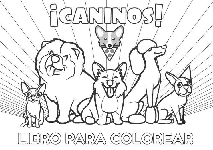 ¡Caninos! El libro para colorear
