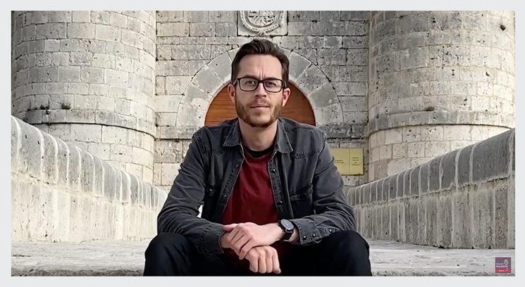 Ángel Miranda en el Archivo General de Simancas