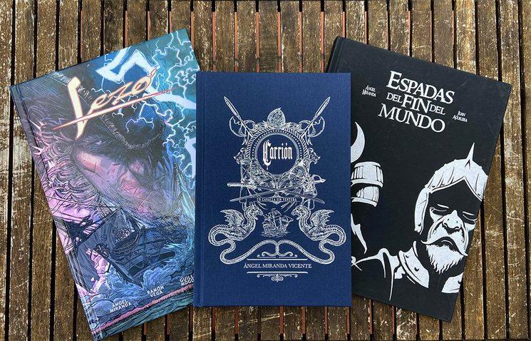 Lezo, Carrión y Espadas del Fin del Mundo, tres obras verkamizadas de Ángel Miranda.