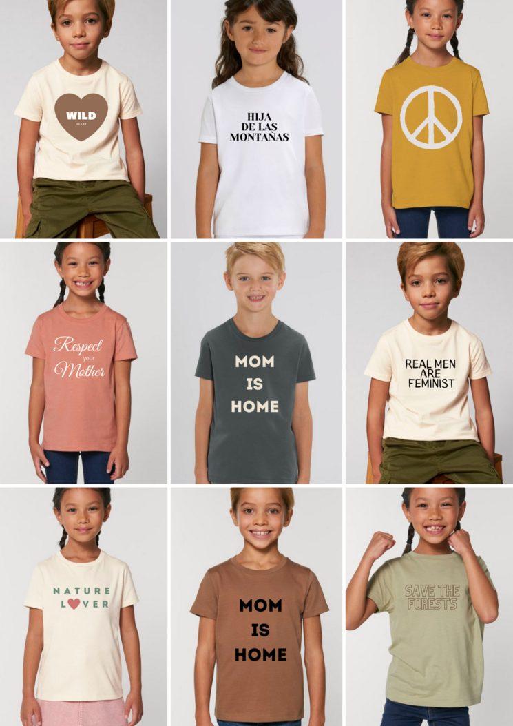 Camisetas infantiles de 3 a 14 años